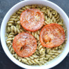 Pesto Pasta with Roasted Tomatoes