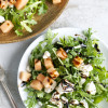 Arugula, Cantaloupe and Feta Salad with Balsamic Glaze