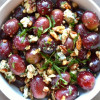 Grape Salad with Blue Cheese, Walnuts, and Basil