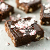 Peppermint Brownies with Chocolate Ganache