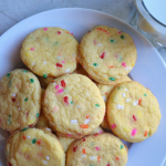 Yellow Cake Funfetti Cookies