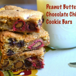 Peanut Butter M&M Chocolate Chip Cookie Bars