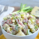 Rosemary Garlic Potato Salad with Crumbled Blue Cheese