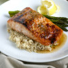 Roasted Salmon with Ginger Honey Glaze