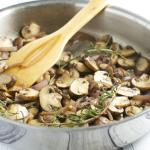 Sherry Glazed Rosemary Mushrooms