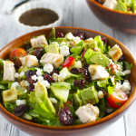 Italian Chicken Salad with Vegetables, Cranberries and Goat Cheese