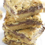 Nutella Walnut Cookie Bars