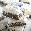 Brownies with Whipped Coconut Buttercream Frosting