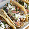 Barbecue Pork Tacos with Honey Mustard Slaw
