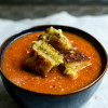Tomato Soup & Pesto Grilled Cheese