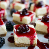 Cheesecake Bars with Blackberry Sauce
