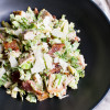 Brussels Sprouts Caesar Salad with Chicken and Bacon
