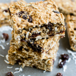 Healthy Oatmeal Raisin Breakfast Bars