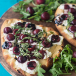 Cherry and Goat Cheese Flatbread Pizza