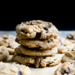 Olive Oil Chocolate Chip Cookies with Pistachios