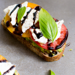 Simple and Easy Caprese Avocado Toast