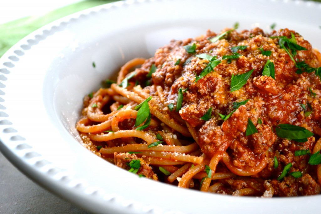 Pasta time. Classic pasta time. Spaghetti with meat sauce. One of my ...