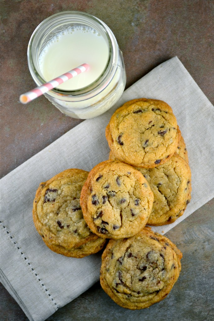 Crispy, Chewy and Soft Chocolate Chip Cookies - Stuck On Sweet