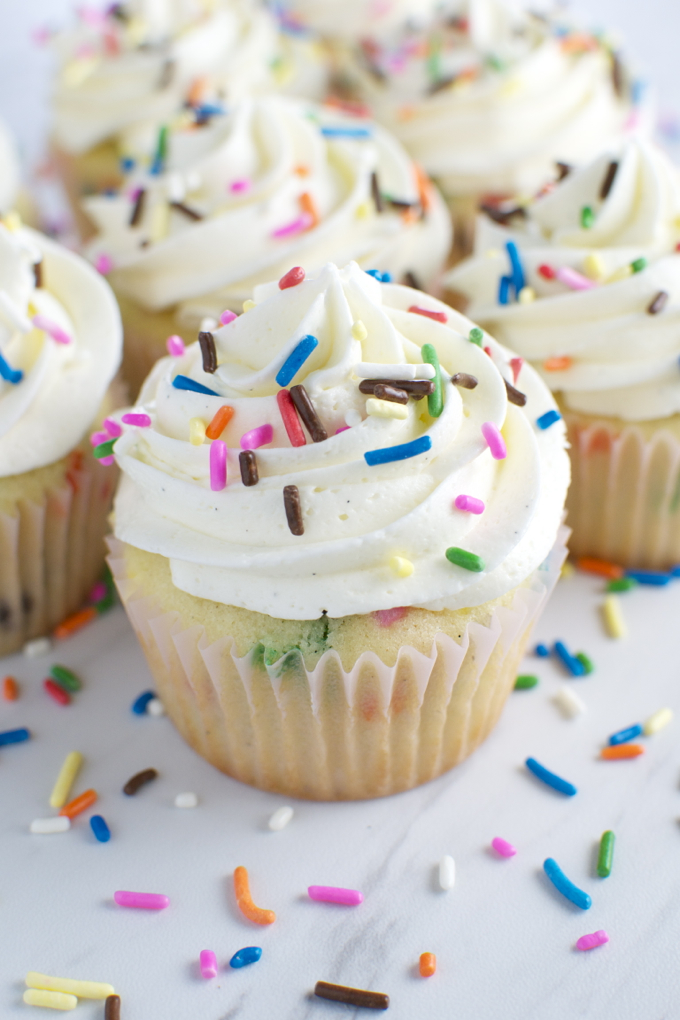 Homemade Funfetti Cupcakes Stuck On Sweet
