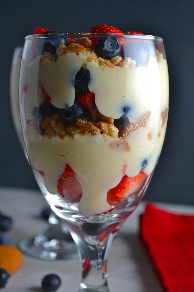 Vanilla Bean Pudding Fruit Parfaits - Stuck On Sweet