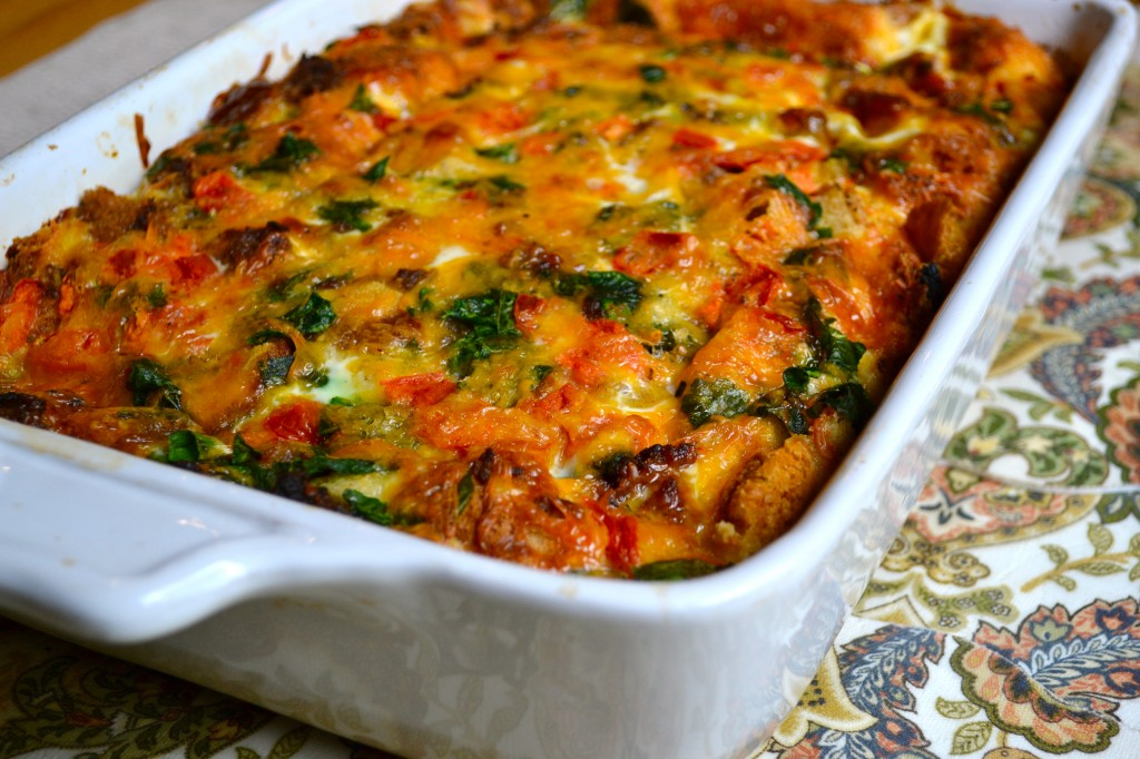 Breakfast Casserole with Spinach and Tomatoes - aka My Mom's Egg Bake ...