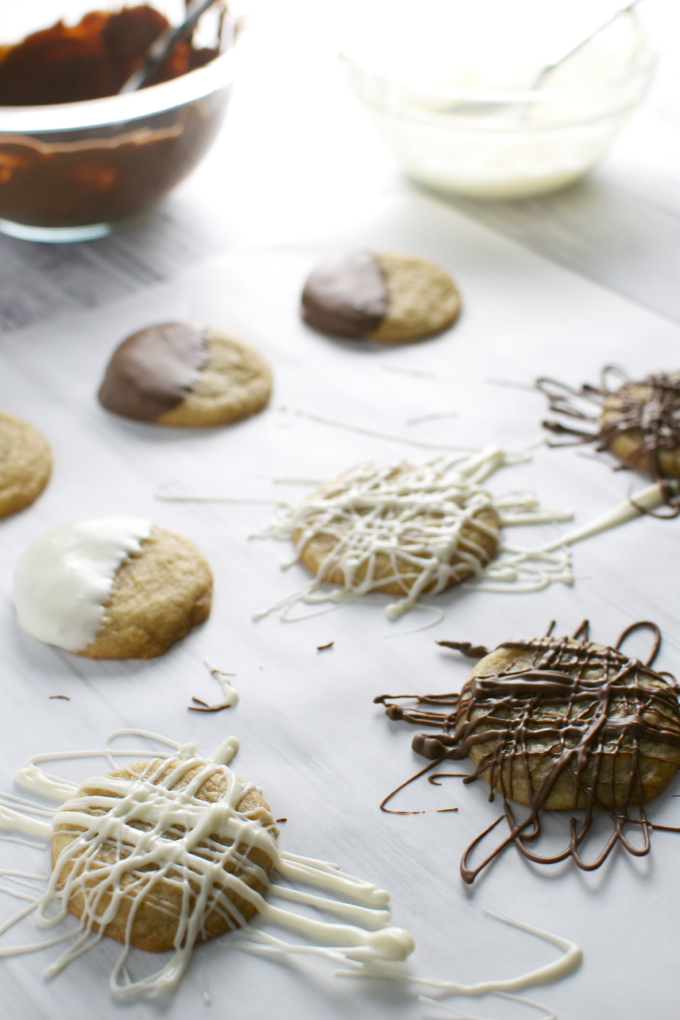 Chocolate Drizzle Cookies