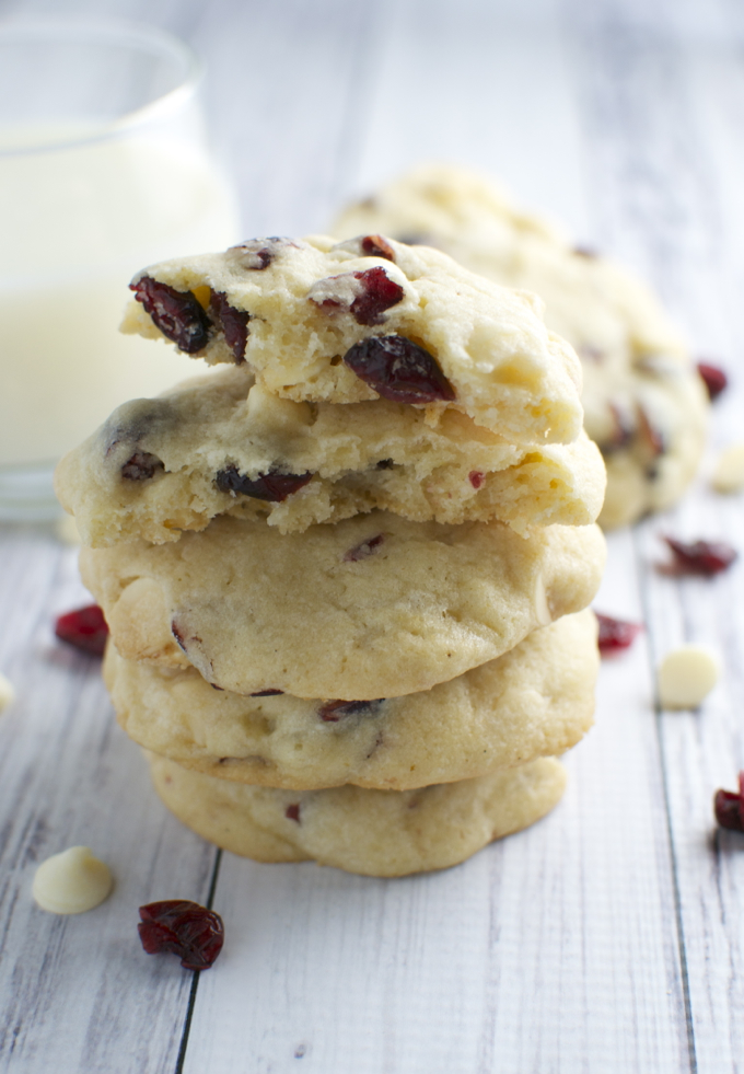 White Chocolate Almond Cranberry Cookies | stuckonsweet.com - Stuck On ...