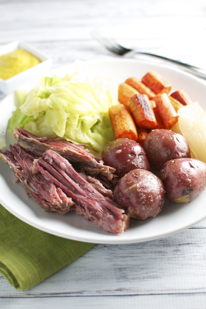 Corned Beef and Cabbage with the Fixins' - Stuck On Sweet