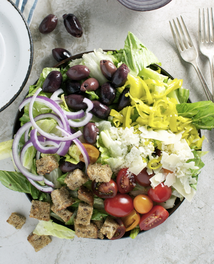 Copy cat olive garden salad stuck on sweet - Olive garden salad dressing recipes ...