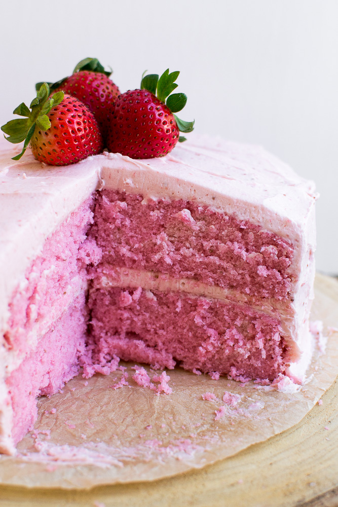 strawberry cake from scratch stuck on sweet